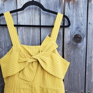 First Monday Yellow Striped Bow Front Dress